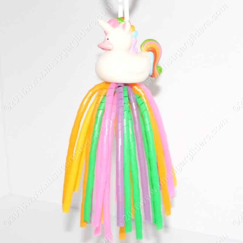 RAINBOW UNICORN DUCKY DANGLER TOY