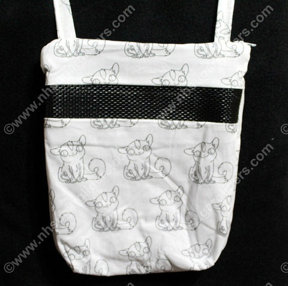 Custom Sugar Glider Fabric - Sitting Glider Carry & Bonding Pouch