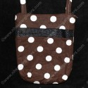 Brown Polka Dot Carry & Bonding Pouch