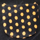 Orange Polka Dot Cage Pouch - Regular Size