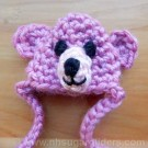 Pink Teddy Bear Sugar Glider Hat - LAST ONE!